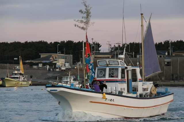 釣り船 初漁
