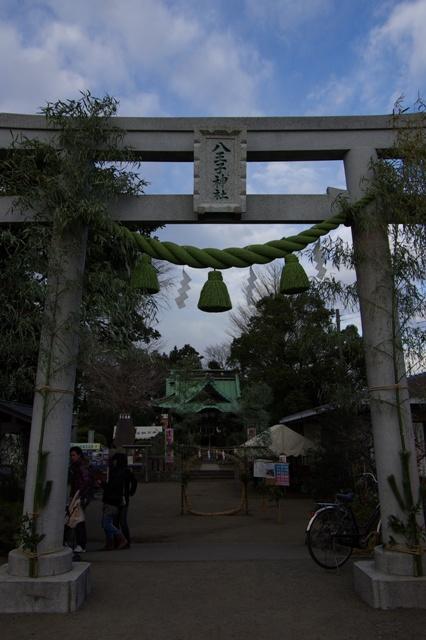 菱沼八王子神社 大鳥居と茅の輪潜り
