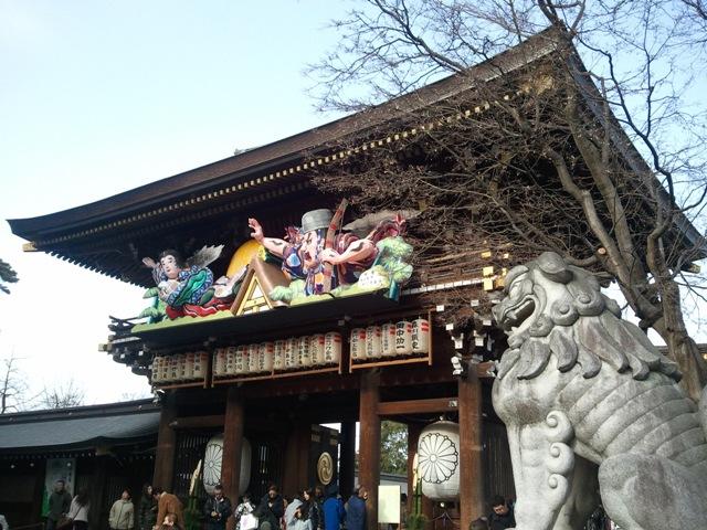寒川神社 神門 干支ねぶた