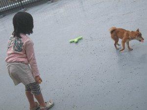 お姉ちゃんとボール遊び♪