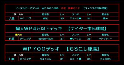 鷹vs鴎2nd 組み合わせ