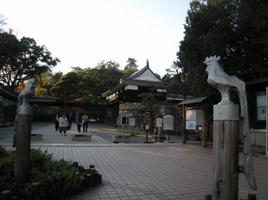 2009/11/23高知城入り口