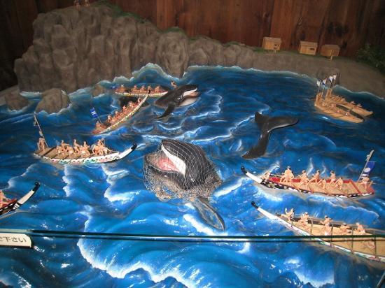 2009/11/23高知城クジラ漁の模型