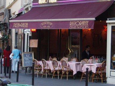 rue Mouffetard(ムフェタール)通のカフェdownsize
