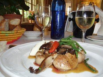 レストランLe Relais de Pont Loup仔牛肉の一皿downsize