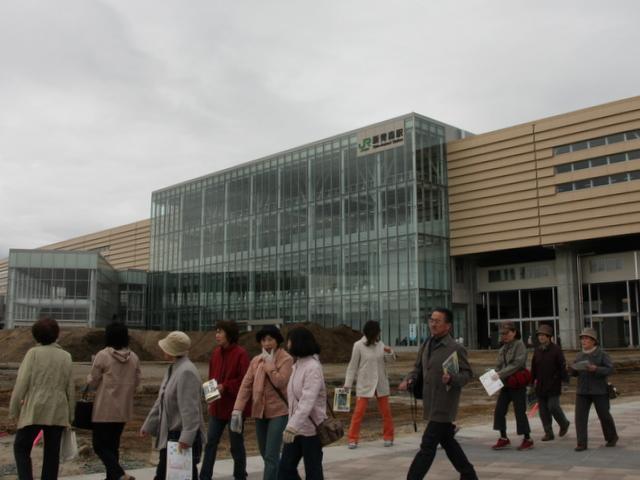 東北新幹線八戸・新青森間試験電車イースト・アイ到着歓迎式及び新青森駅舎見学会