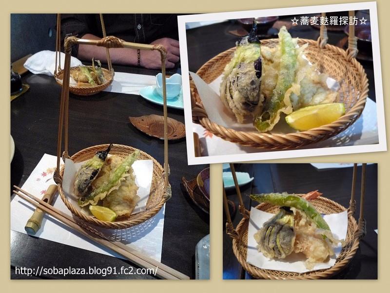 21.手打ち蕎麦 銀杏(牡蠣と生麩の天ぷら)