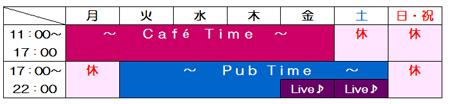 営業時間 表1