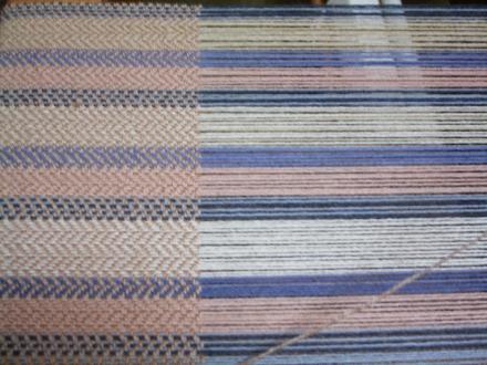 経糸と織り地の比較