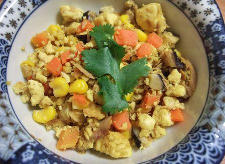 カレー煎り豆腐