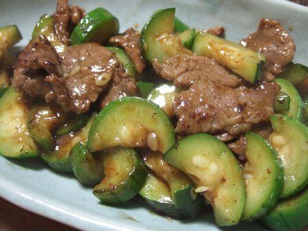 糸瓜と牛肉の炒め物