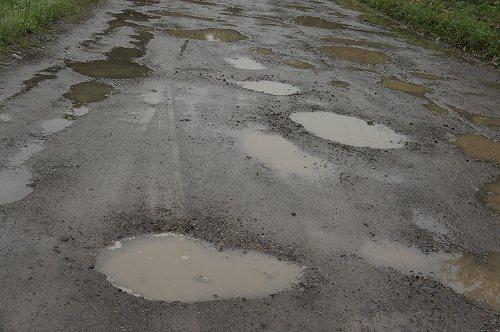 昭和を感じる道路風景