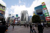 渋谷ハチ公口から見た風景 2010年3月19日