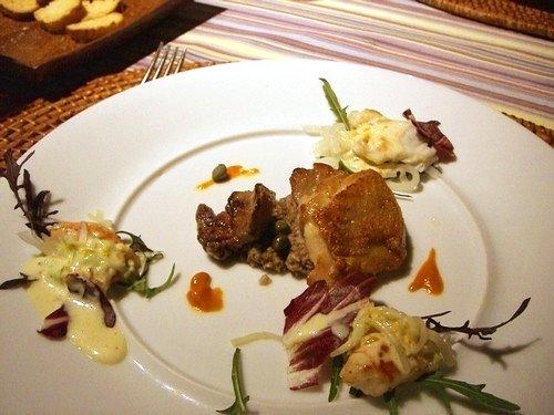 鶏とレバー 椎茸のペースト