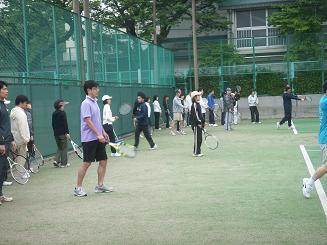 テニス練習風景