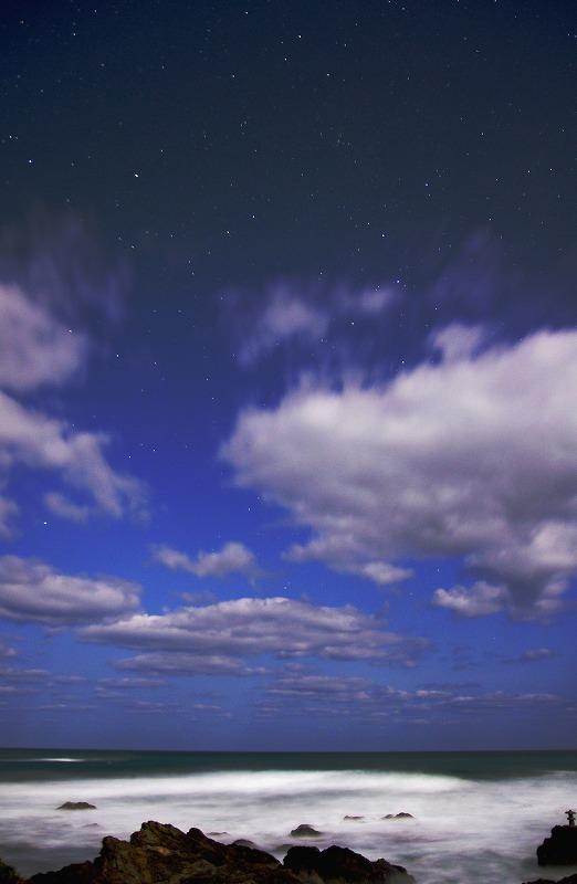 夜の三里ヶ浜