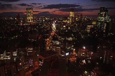 東京タワー展望台から