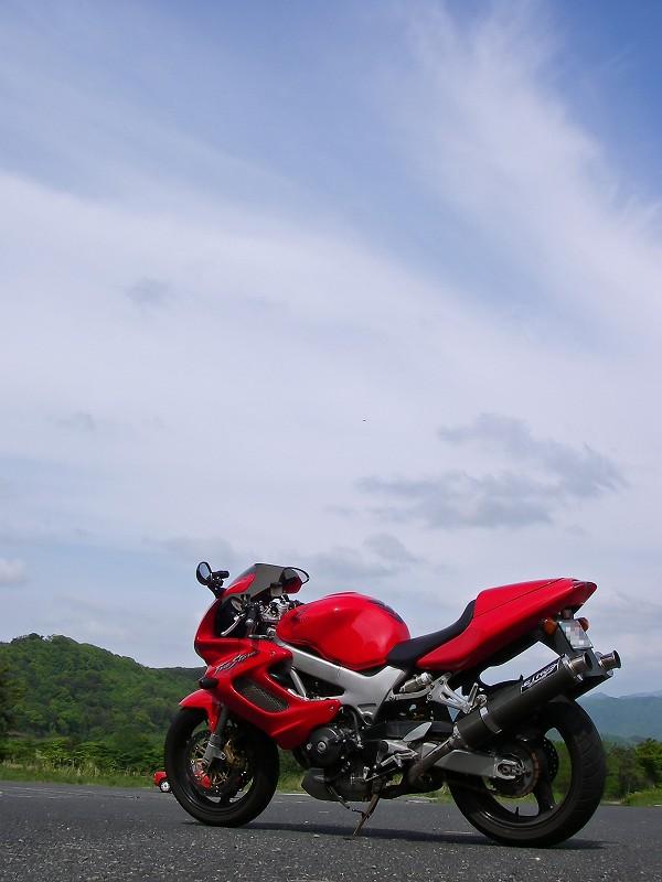 VTR1000F in 三瓶山