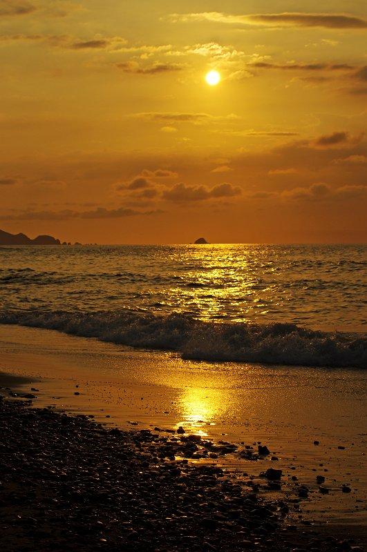 三里ヶ浜夕景
