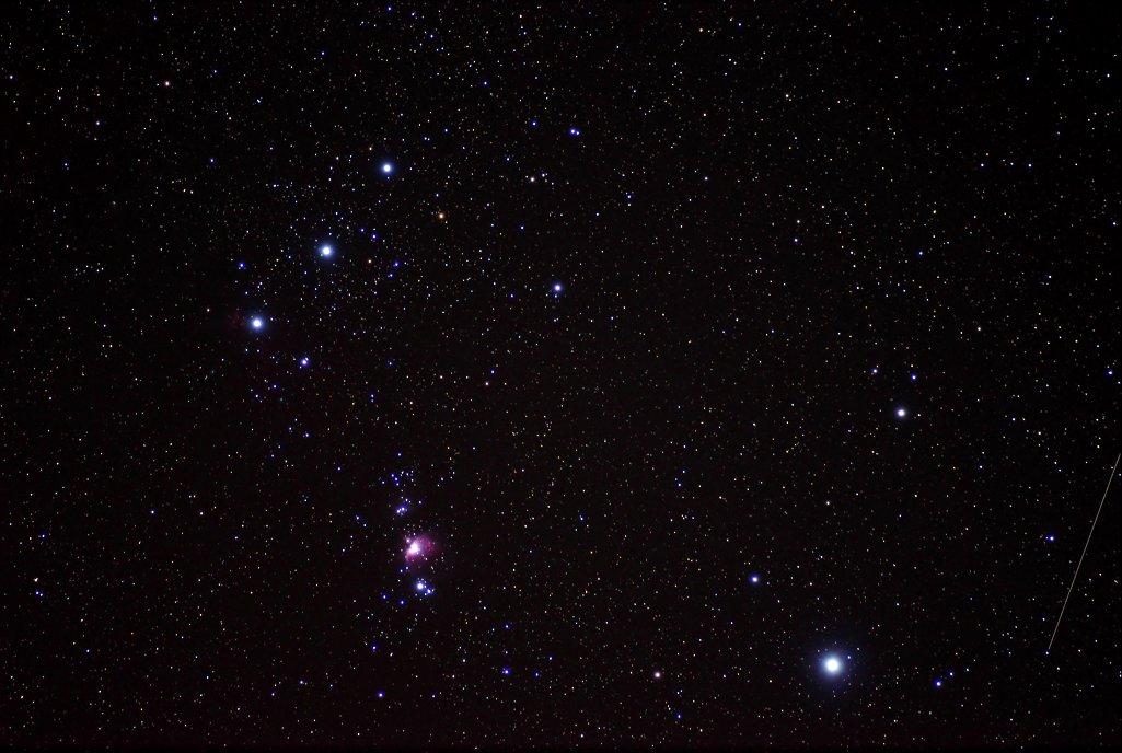 オリオン座三ツ星周辺