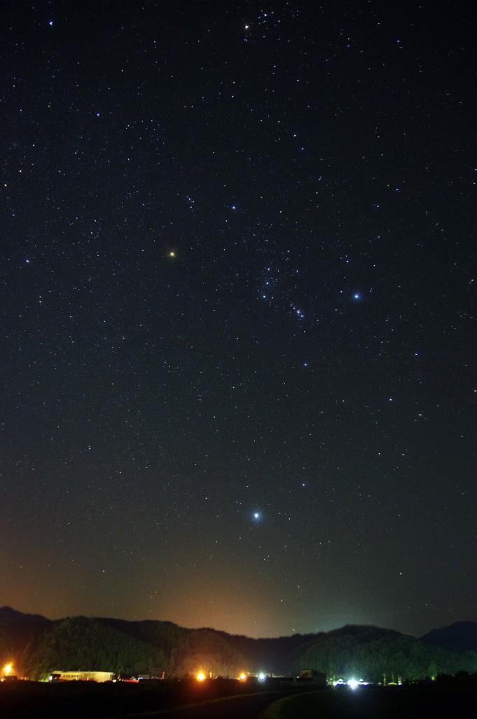 オリオン星景