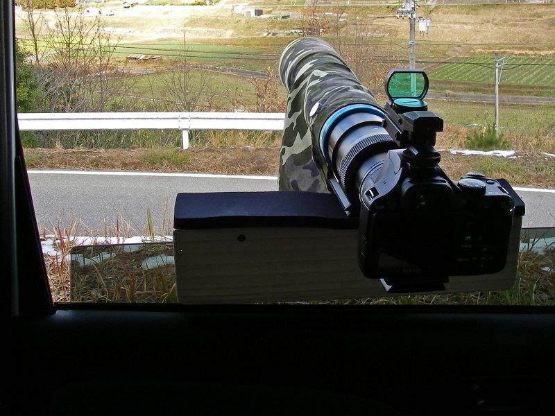 車窓用レンズサポーター