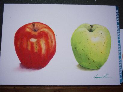 赤、青りんご