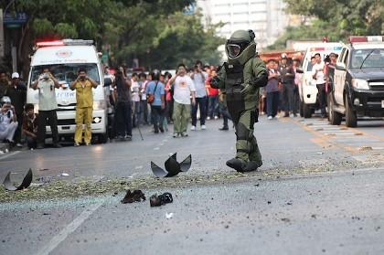 バンコク スクンビット 爆弾事件写真