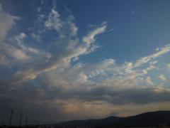 雨が上がった後の空。
