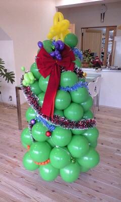 アートバルーンのクリスマスツリー5