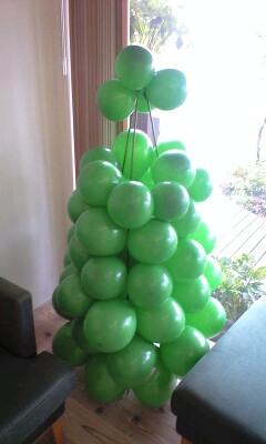 アートバルーンのクリスマスツリー4