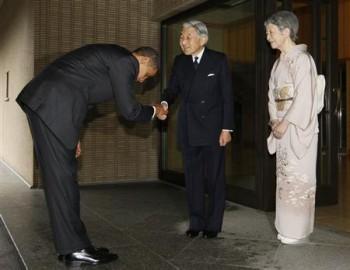両陛下とオバマ大統領