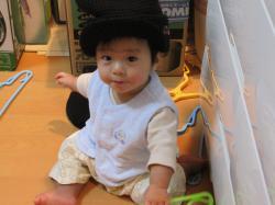 パパのニット帽