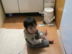洗面所にて