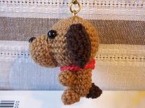 編み犬ミニチュアダックスフンド2(8%)
