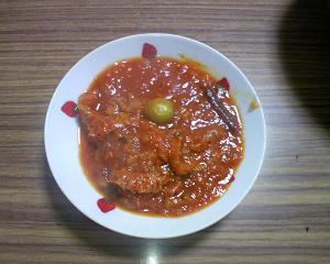 ハチノスのトマトソース煮