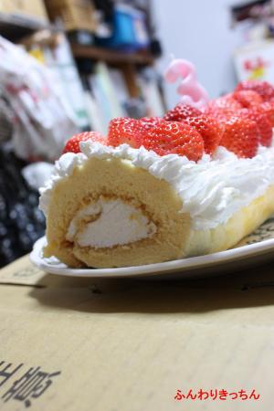 3歳のバースデーケーキ