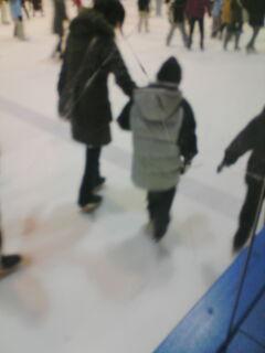 スケート後姿
