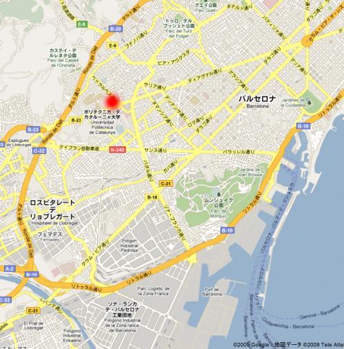 グエル別邸地図