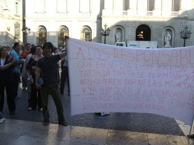 バルセロナのデモ1