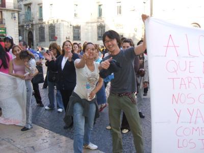 バルセロナのデモ2