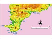 元禄地震における房総半島の上下変動量