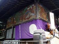 拝殿の左側の彫刻