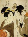喜多川歌麿「玄英の雑司ヶ谷詣」 元禄五色の風車