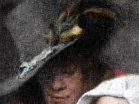 《帽子の羽根飾り》