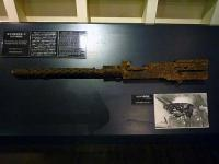 東京空襲後墜落したB29の機関銃