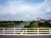 入間川上流「新富士見橋」方面