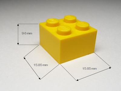Lego 2x2のサイズ