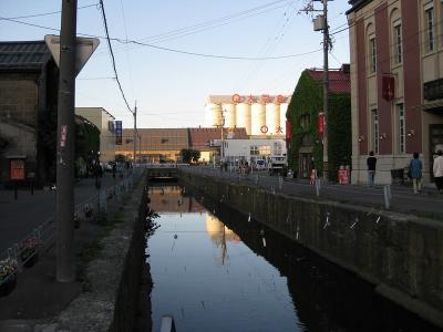 小樽の運河に繋がる川