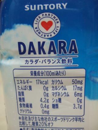 DAKARAの栄養成分